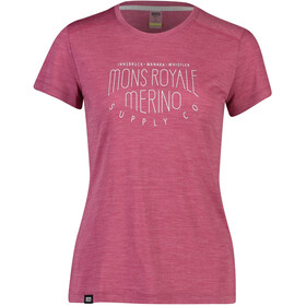 Mons Royale Vapour Tee Dame rosewood